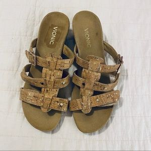 Vionic cork wedge sandals